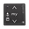 Somfy Smoove RS 100 io mit Diskret-/Normal-Schalter Black Shine