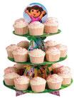 Soporte 24 cupcakes cartón Dora Exploradora Wilton