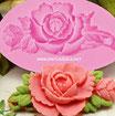 Molde Silicona Rosas con Hojas
