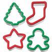Set 4 cortantes Wilton Navidad