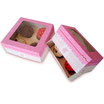 Caja 6 cupcakes + soporte interior rosa