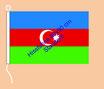Aserbeidschan / Hißfahne im Querformat