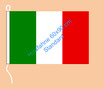 Italien / Hißfahne im Querformat