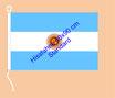 Argentinien / Hißfahne im Querformat