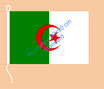 Algerien / Hißfahne im Querformat