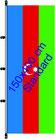 Aserbeidschan  / Hißfahne im Hochformat