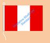 Peru / Hißfahne im Querformat