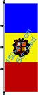 Andorra / Hißfahne im Hochformat