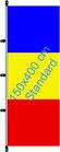 Tschad / Hißfahne im Hochformat