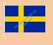 Schweden / Hißfahne im Querformat