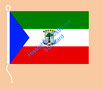 Äquatorial Guinea / Hißfahne im Querformat