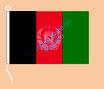 Afghanistan / Hißfahne im Querformat