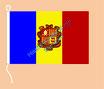 Andorra / Hißfahne im Querformat