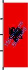 Albanien / Hißfahne im Hochformat
