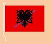 Albanien / Hißfahne im Querformat