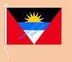 Antigua und Barbuda / Hißfahne im Querformat