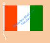 Elfenbeinküste / Hißfahne im Querformat
