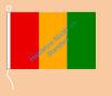 Guinea / Hißfahne im Querformat