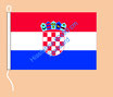 Kroatien / Hißfahne im Querformat