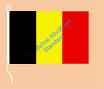 Belgien / Hißfahne im Querformat