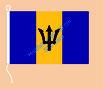 Barbados / Hißfahne im Querformat
