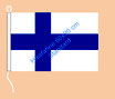 Finnland / Hißfahne im Querformat