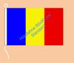 Rumänien / Hißfahne im Querformat