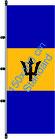 Barbados / Hißfahne im Hochformat