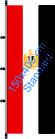 Ägypten / Hißfahne im Hochformat