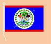 Belize / Hißfahne im Querformat