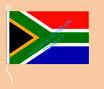 Südafrika / Hißfahne im Querformat
