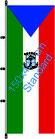 Äquatorial Guinea / Hißfahne im Hochformat