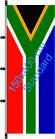Südafrika / Hißfahne im Hochformat