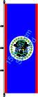 Belize / Hißfahne im Hochformat