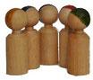 1 Stück, Figuren Klein zylinder 4,8 cm