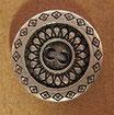 Bouton métal argenté rosace 15 mm