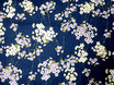 Tissu japonais gaufré :Shidare Sakura GAU5 -3 Bleu marine