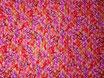 Tissu matelassé : Sakura , rouge-rose-doré ( ref MAT1-2 )