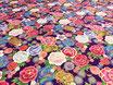 Tissu japonais : Fleurs -Tambour - F11