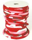 CORDON JAPONAIS 5mm : Rouge - Rose - Blanc U9