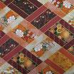 Coupon de 50cm x 55cm : Fleurs en motif patchwork  F14