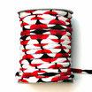 CORDON JAPONAIS 5mm : Rouge - Noir - Blanc U11
