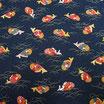 Tissu japonais : Poisson en motif dorade porte-bonheur  AG19