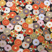 Coupon de 50cm x 55cm : Petites fleurs de KIKU (菊 chrysanthèmes)   F10