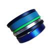 Bracelet manchette en cuir JOA by RISTMIK bleu- ref202043