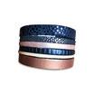 Bracelet manchette en cuir JOA by RISTMIK multicolore- ref202062