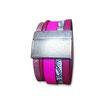 Bracelet manchette en cuir JOA by RISTMIK rose et doré- ref202073