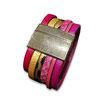 Bracelet manchette en cuir JOA by RISTMIK multicolore- ref202071