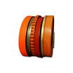 Bracelet manchette en cuir JOA by RISTMIK orange et doré- ref202074