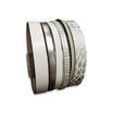Bracelet manchette en cuir JOA by RISTMIK blanc et argent- ref202064